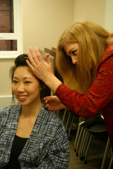 Actress Theresa Nguyen and hair stylist Jenny Gillings