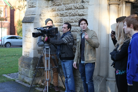 Filming at St. Augustine's church